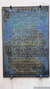 Infotafel im Lusamgärtchen in Würzburg